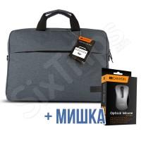 """Чанта за лаптоп 15"""" Canyon, тъмно сива + мишка"""