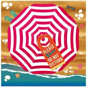 Голяма семейна плажна кърпа Alfresco 180см, розово и бяло