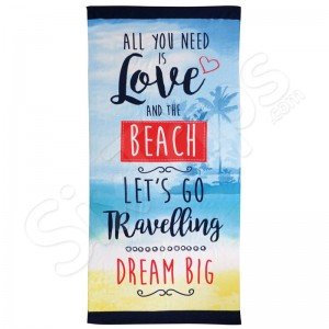 """Кърпа за плажа Alfresco """"All you need is love and the beach"""""""