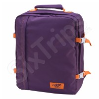 Лилава раница и пътна чанта с оранжеви елементи Cabin Zero Mini 28л