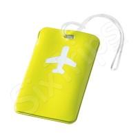 Жълт етикет за багаж със самолетче