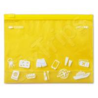 Непромокаема торбичка за пътуване в свеж жълт цвят