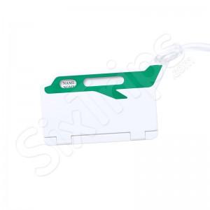Етикет за багаж Mufix в бяло и зелено