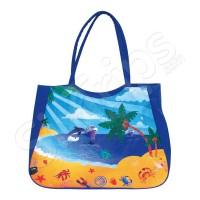 Синя чанта за плаж