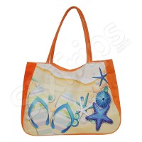 Лека плажна чанта - оранжева