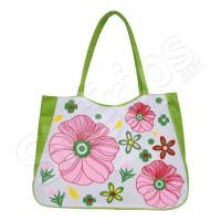 Пъстра лятна чанта за плажа