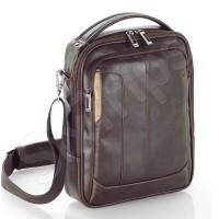 """Кафява мъжка чанта за рамо от еко кожа 10.2"""""""