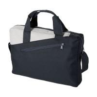 Чанта с двойна дръжка Portland черно-сива