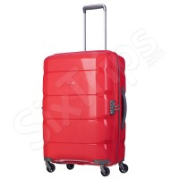 Модерен червен куфар Puccini 65л, полипропилен