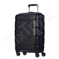 Мълък куфар в черно Puccini Shanghaj 55см