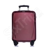 Малък куфар за ръчен багаж в червено вино Puccini London