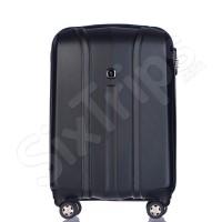 Черен твърд куфар за ръчен багаж от поликарбонат Puccini Toronto, 55см