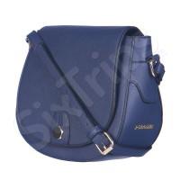 Синя дамска малка чанта с презрамка в класически стил Puccini