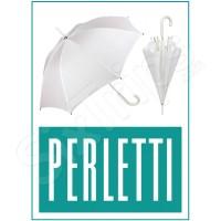Голям бял дамски чадър Perletti