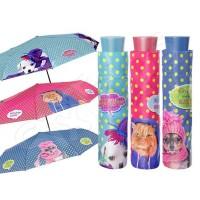 Пъстър дамски чадър с котка или куче