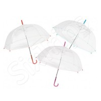Прозрачен автоматичен дамски чадър Perletti