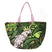 Шарена лятна чанта с тропически елементи