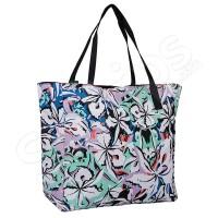 Чанта за плажа с флорални елементи