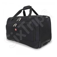 Стилна черна пътна чанта с колела Wenger 58л.